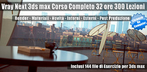 Vray Next 3ds max Corso Completo Subscription un Computer