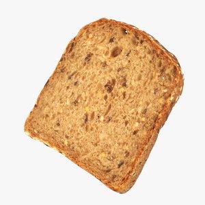 slice health bread 3D
