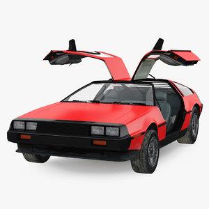 3D model 80s sport car generic