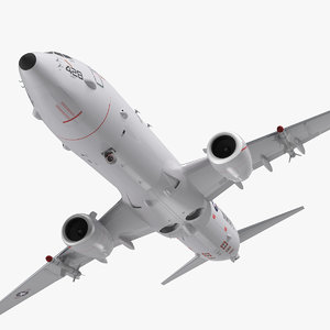 boeing p-8 poseidon military aircraft 3D model