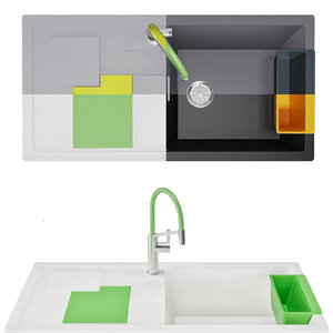 3D sink blanco sity xl model
