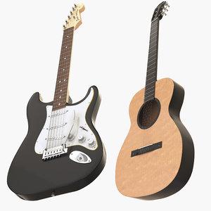 3D fender guitars model