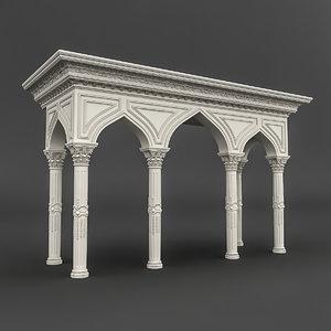 mosque entrance 03 3D model