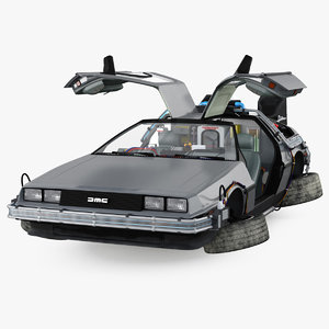 delorean dmc-12 time machine 3D