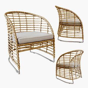 3D zecanka omar chair