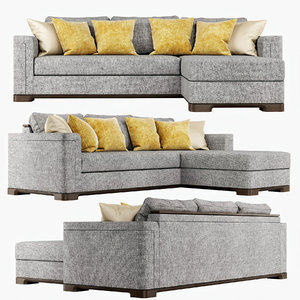 sofa perry sectional middle 3D model