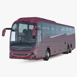 3D 9900 bus rigged model