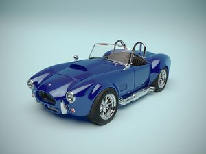 3D sports car ac cobra