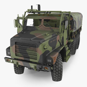 3D model military medium cargo truck