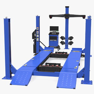 wheel aligner car equipment 3D