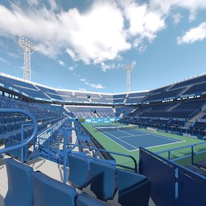 tennis arena hard 3D