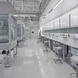 laboratory carefully 3D