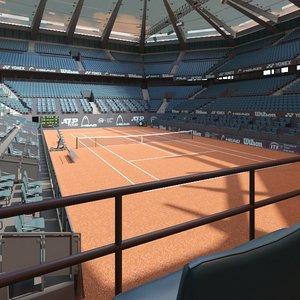 3D model tennis arena