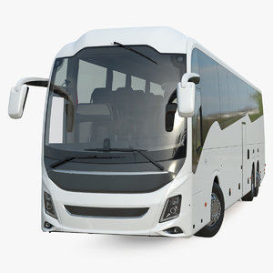 luxury coach tour bus 3D model