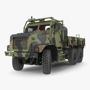 3D medium tactical vehicle 6x6 model