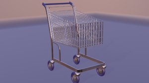 3D supermarket cart