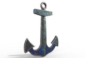 navy anchor 3D model