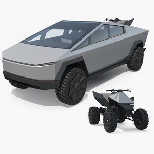 tesla cybertruck cyberquad atv model