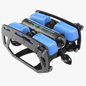 3D underwater robot bluerov2 rigged