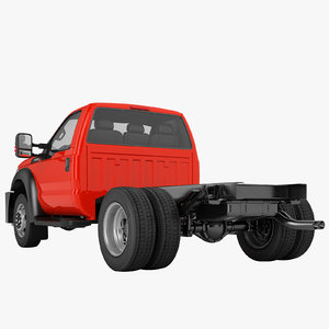 3D f450 truck chassis model
