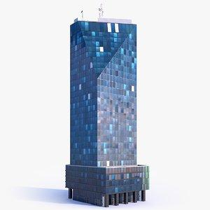 3D skyscraper building 01 model