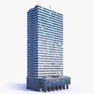 3D skyscraper building 02