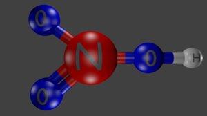nitric acid 3D model