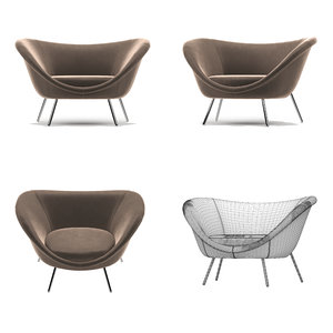 realistic sofa molteni c 3D model