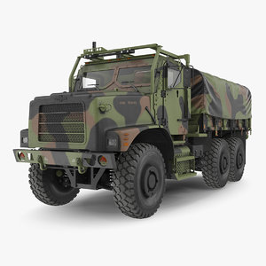 oshkosh mtvr mk23 cargo truck model