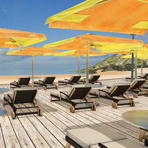 3D beach resort
