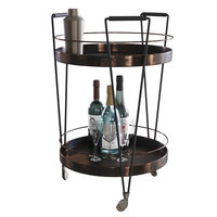 Serving trolley with decor