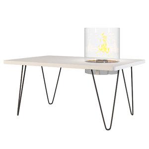 planika table mini fireplace model