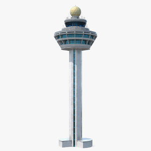 changi airport control tower 3D model