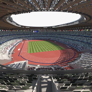 3D new national olympic stadium