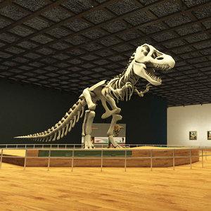 3D model dinosaur museum