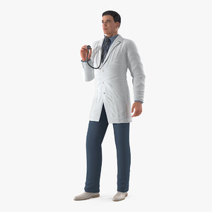 male doctor standing pose model