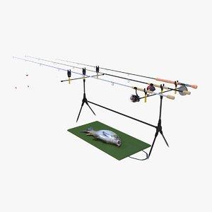 carp fishing rod model