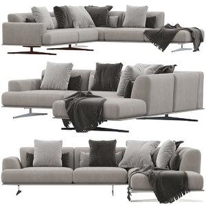 3D model divani albachiara sofa