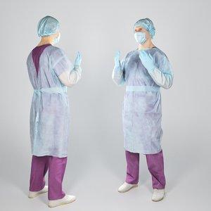 middle-aged man uniform surgeon 3D