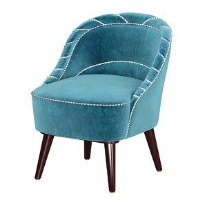 chair small danish mid-century 3D model