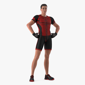 fitness trainer standing pose 3D