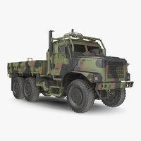 Military Medium Cargo Truck 6x6 Dusty