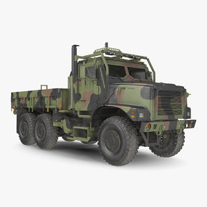 military medium cargo truck model
