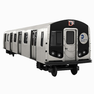 3D subway train