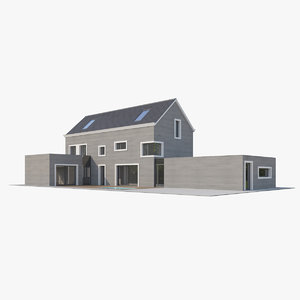 3D contemporary apartment house model