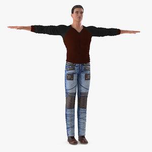 man casual style wear model