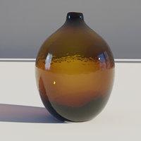 Yellow Dark Glass Vase 2