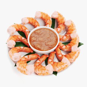 shrimps plate 3D model