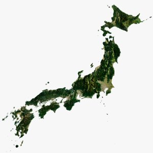 3D japan islands world 29k model