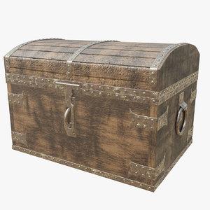 wooden chest 3D model